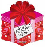 "18"" I Love You Gift Box Foil Balloon"