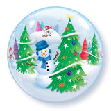 "22"" Festive Trees/Snowmen Bubble"