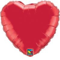 "18"" Ruby Red Heart Balloon"