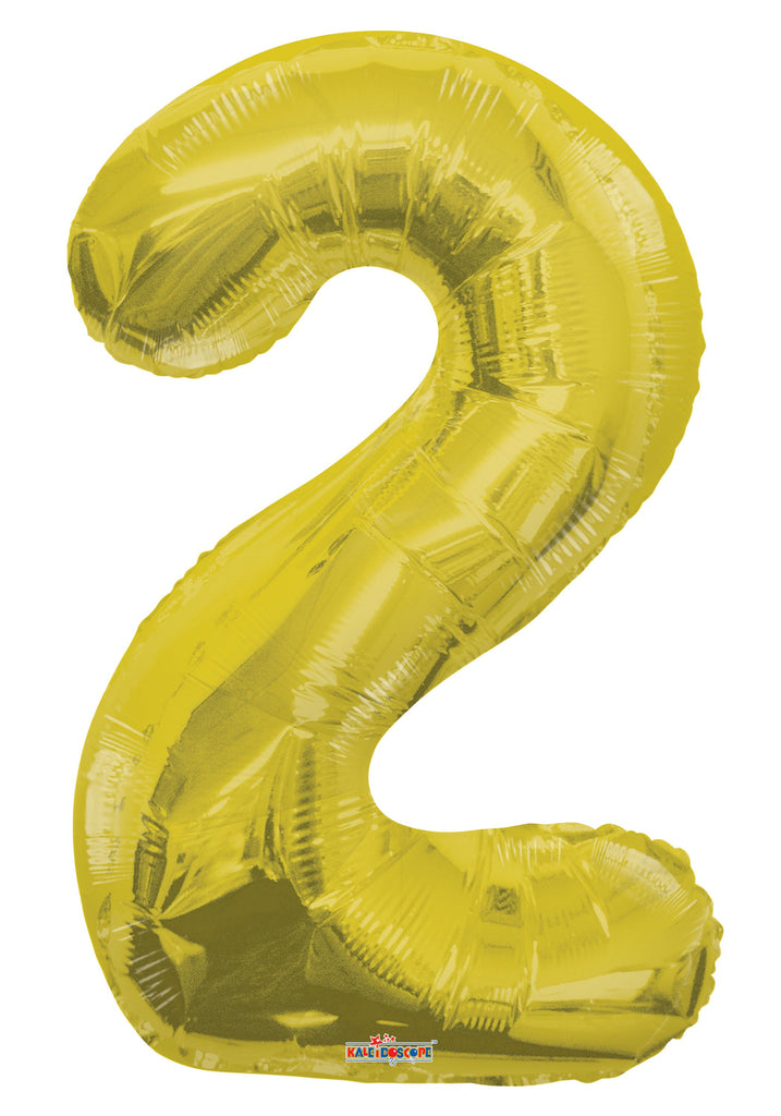 "34"" Gold #2 Foil Balloon"