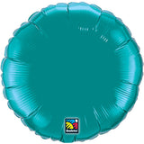 "18"" Teal Round Foil Balloon"