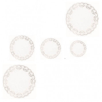 White Round Assorted Doilies