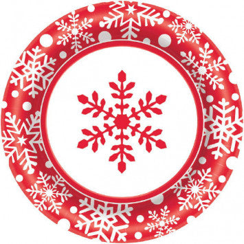 "10"" Large Winter Holiday Value Plates, 40Ct"