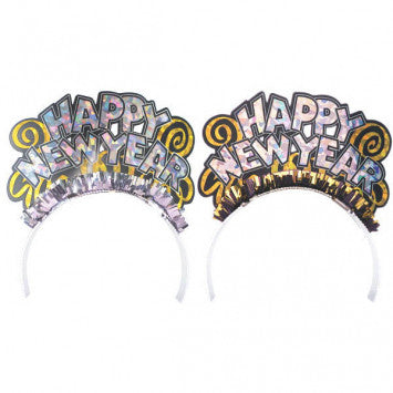 Happy New Year Assorted Tiara 6Ct.