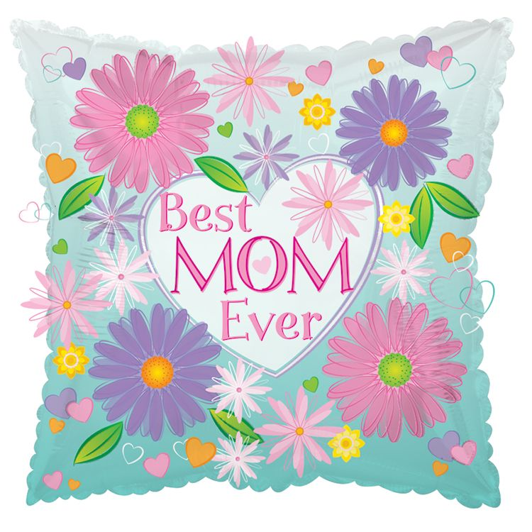 "18"" Best Mom Ever Foil Balloon"