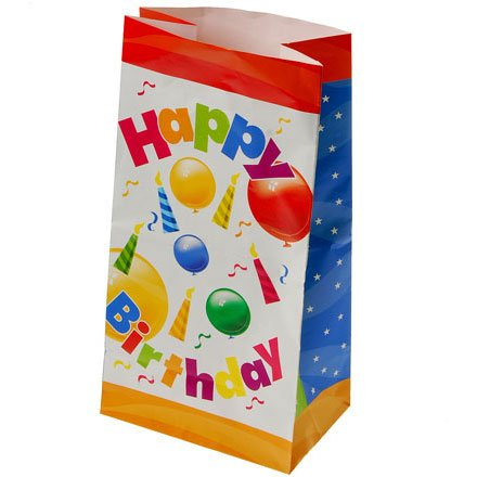 Happy birthday paper bags (12 Ct)