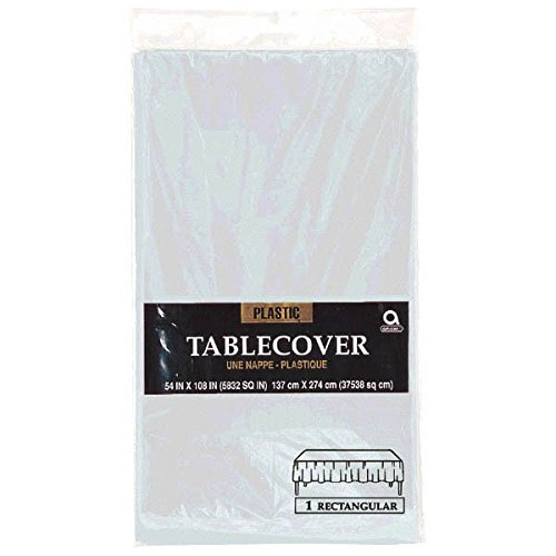 Silver Rectangular Plastic TableCover