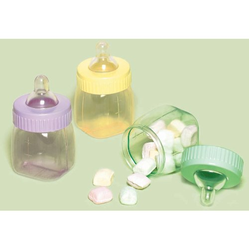 Multicolor Bottles Baby Shower Favors  6 Ct