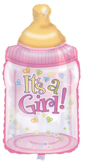 "38"" It's A Girl Baby Bottles"