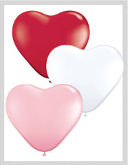 "11"" Assorted Heart Latex Balloon 12Ct"