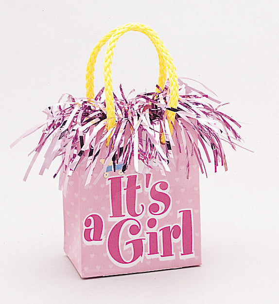 It's A Girl Giftbag Balloon Weight