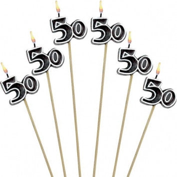 50th Celebration Candle on Stick