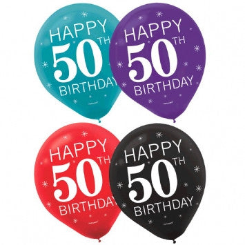 50th Celebration Latex Balloons