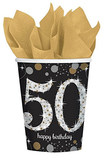 Sparkling 50th Birthday Cups
