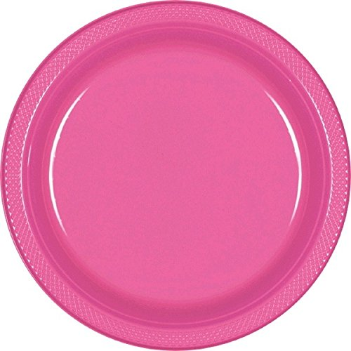 Bright Pink Luncheon Plates