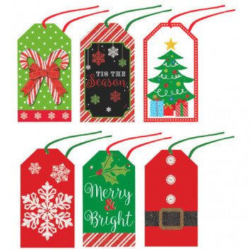 Holiday Modern Paper Tags 36Ct