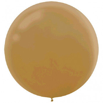 "24"" Round Latex Balloon - Pearlized Gold, 4CT"