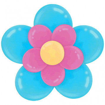 Caribbean Flower Latex Balloon Kit