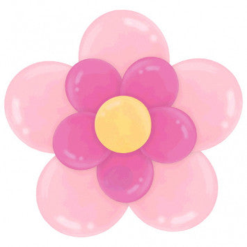 Pink Flower Latex Balloon Decorating Kit