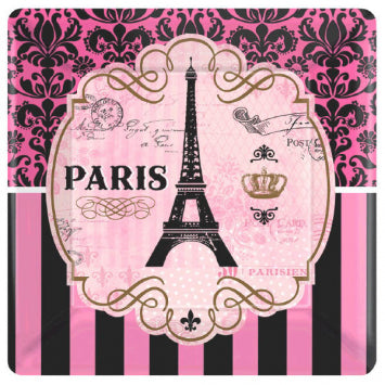 Day in Paris Square Dessert Plates, 7""