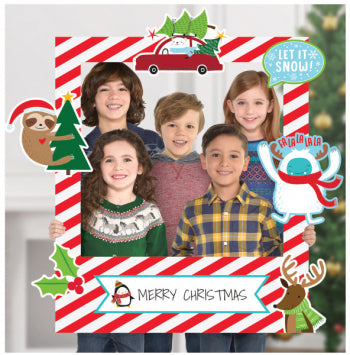 Christmas Giant Photo Frame w/Props
