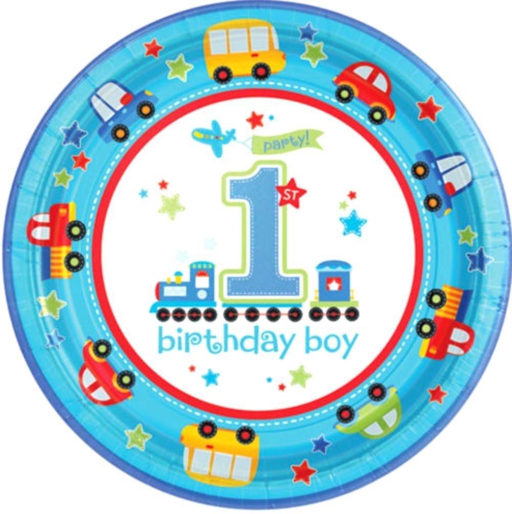 All Aboard 1st B'day Plate