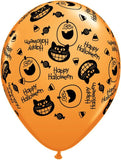 "16"" Halloween Smiling Cats Balloons 10ct"