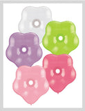 "6"" Assorted Flower Latex Balloon 12Ct"
