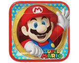 Mario Bros Luncheon Plate - 8 Count