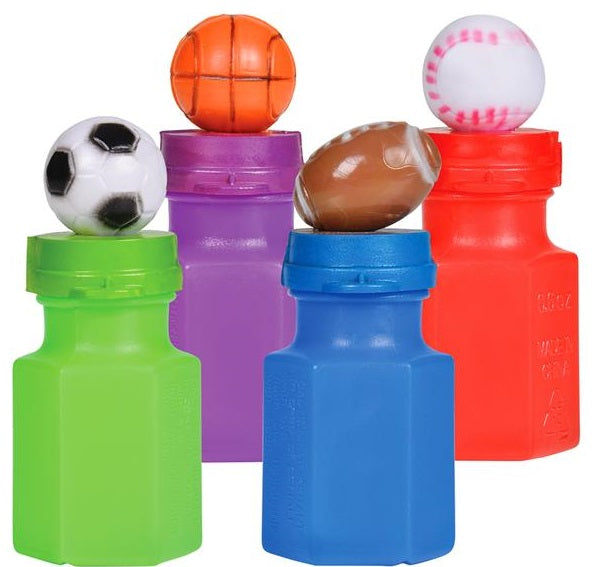 "3"" Sport Bubble Bottles  - 24 Cts"