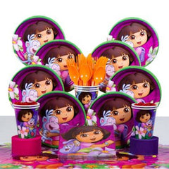 Dora Deluxe  Party Kit - 8 Guests