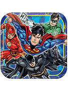 Justice League Luncheon Plate - 8 Counts