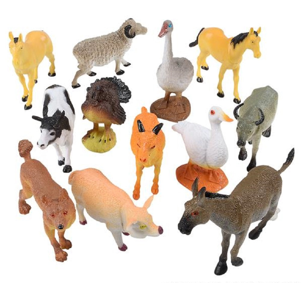 "4"" Farm Animals 6 Ct"