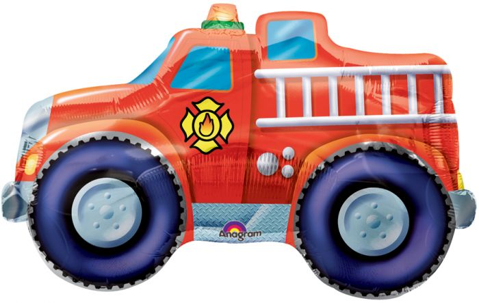 "33"" Rescue Team Fire Engine Foil Balloon"