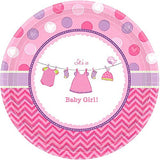 It's a Baby Girl Dessert Plate - 8 Ct