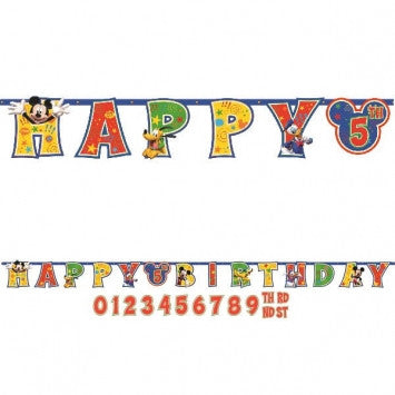 Mickey Mouse Add-An Age Letter Banner
