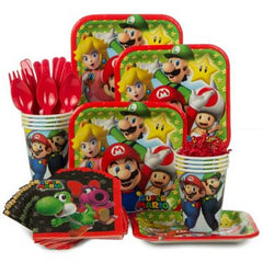 Mario Bros Party Kit - 8 Guests