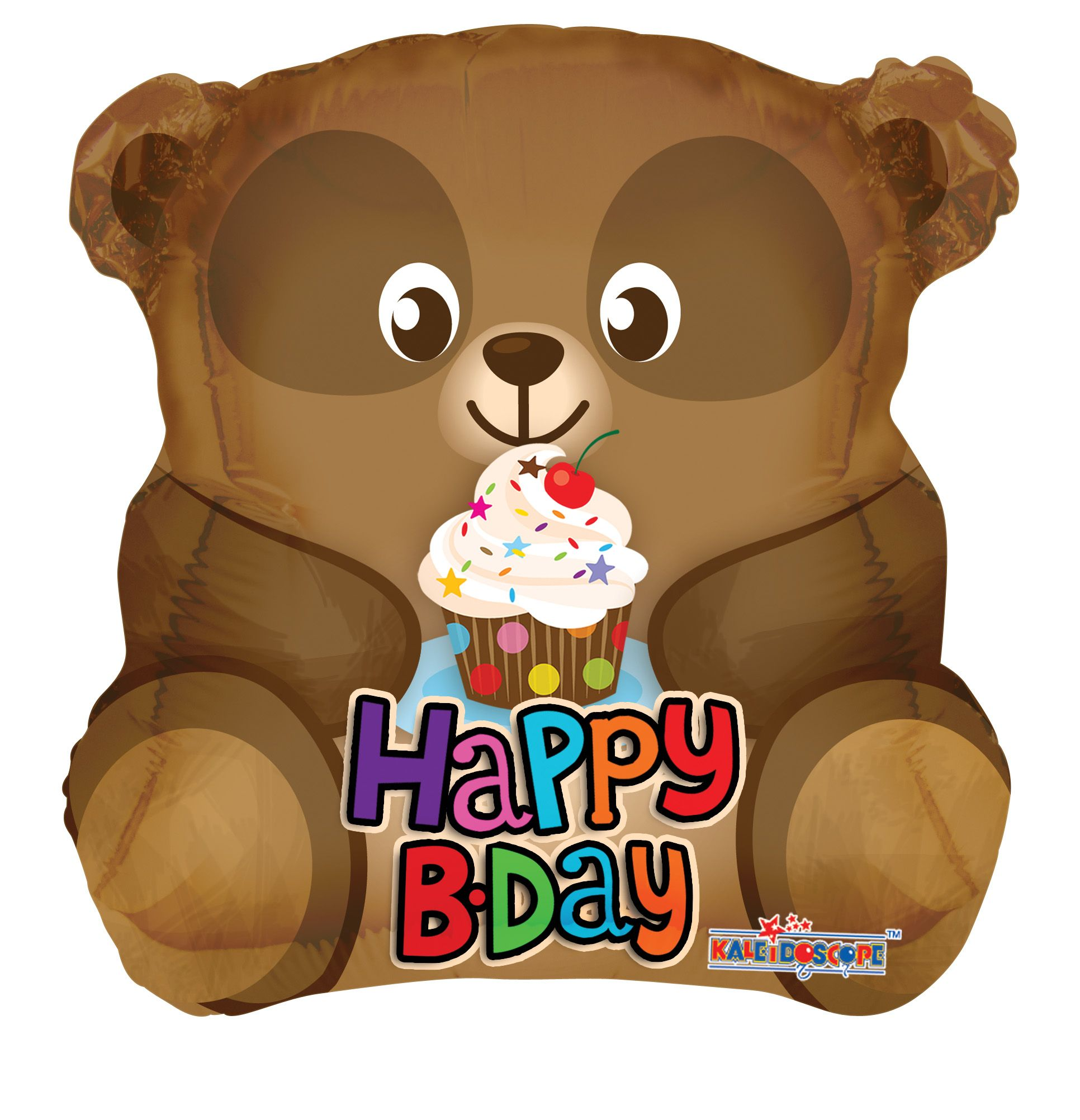 "18"" Birthday Bear Foil Balloon"