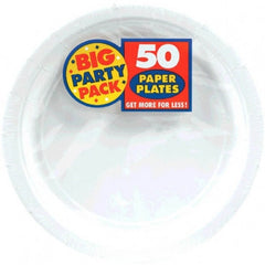 Big Pack Frosty  White Dessert Plates