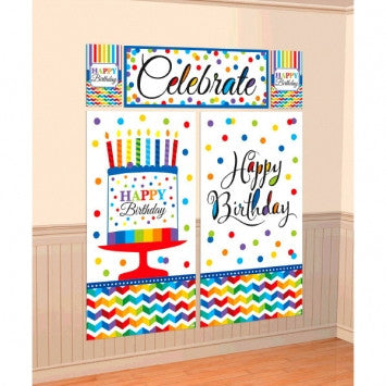 Birthday Scene Setters Wall Decorating Kit
