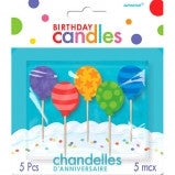 Balloon Birthday Candles - 5 Ct