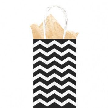 Kraft Gift Bag - Black Chevron