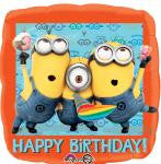 Despicable Me Bday Foil Balloon