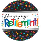 Happy Retirement Dessert Plate - 8 Ct