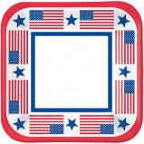 Patriotic Party Dessert Plate - 40 Ct