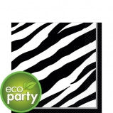 Eco Friendly - Zebra Print Napkin - 36 Ct