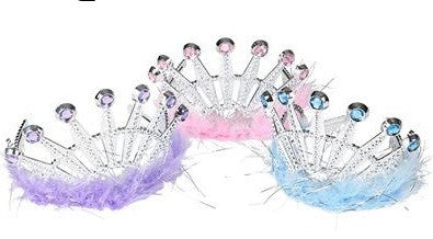 Feather and Jewel Tiara - 1 Dozen Assorted
