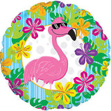 "18"" Cool Flamingo Foil Balloon"