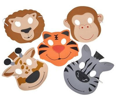 Foam Zoo Animal Masks 6 Ct