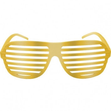 Gold Electric Shutter Fun Shades